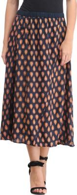 Amirich Self Design Women's A-line Multicolor Skirt