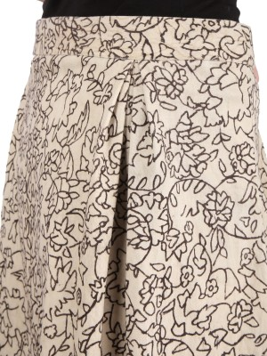 Yosshita & Neha Embellished Women's Regular Beige Skirt at flipkart