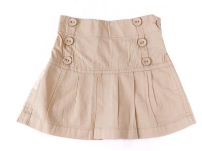 Childkraft Solid Girl's Regular Beige Skirt