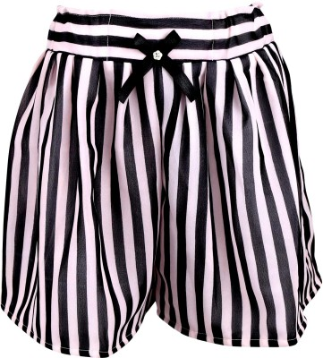 Toddla Striped Girl's Pleated White Skirt