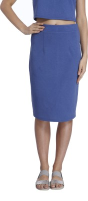 Vero Moda Solid Women's Tube Blue Skirt at flipkart