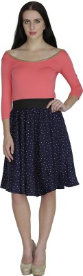 Shopingfever Printed Women's A-line Blue, White Skirt at flipkart