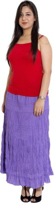 Wardtrobe Solid Women's Regular Purple Skirt