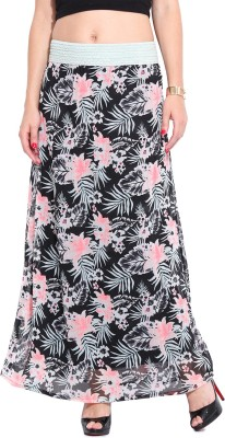 Ceylin Floral Print Women's Broomstick Multicolor Skirt