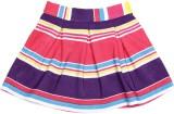 Yk Striped Girls A-line Multicolor Skirt