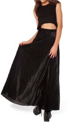 Anam Embellished Women's Straight Black Skirt