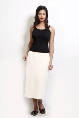 Design Classics Solid Women's Pleated White Skirt