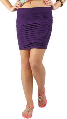 N-Gal Striped Women's Pencil Purple Skirt