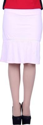 Lluminati Solid Women's Tiered Pink Skirt