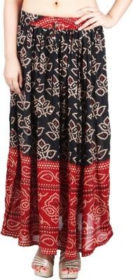 Franclo Self Design Women's Regular Red Skirt