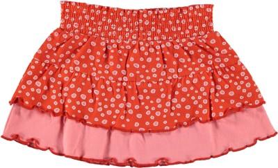 The Dutch Design Bakery Printed Girls A-line Orange Skirt