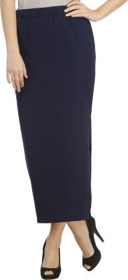 Cottinfab Solid Women's Regular Blue Skirt at flipkart