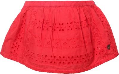 Vitamins Solid Baby Girl's Regular Red Skirt