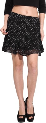 Desi Urban Printed Women's Pleated Black Skirt