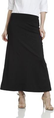 Hugo Chavez Solid Women's A-line Black Skirt at flipkart