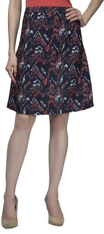 Cherymoya Printed Women's A-line Multicolor Skirt