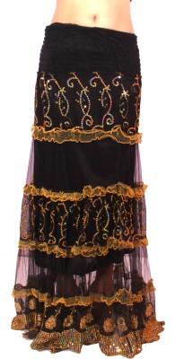 Krazzy Collection Solid Women's Regular Black Skirt