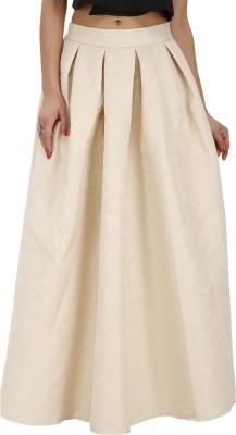Svt Ada Collections Printed Women,s Regular Beige Skirt