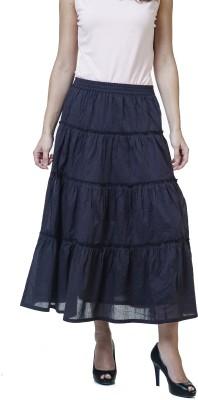 Rute Solid Women's A-line Black Skirt