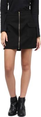 Martini Solid Women's A-line Black Skirt