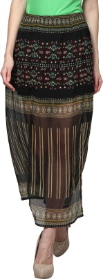 Trend18 Printed Women's A-line Multicolor Skirt