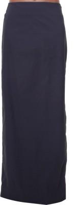 Tryfa Solid Women's Straight Black Skirt