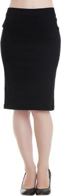 20Dresses Solid Women's Pencil Black Skirt