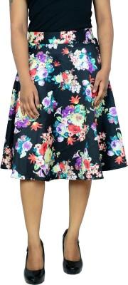 Shopaholic Fashion Solid Women's Regular Black Skirt