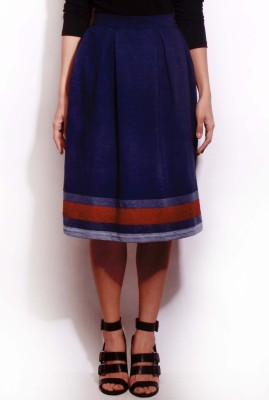 Change360? Printed Women's Pleated Blue Skirt