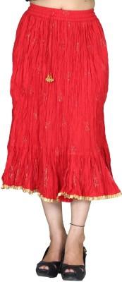 Chhipaprints Printed Women's Regular Red Skirt
