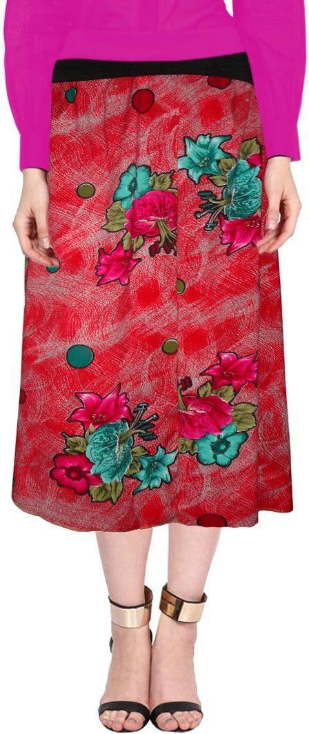 Sttoffa Printed Women's A-line Multicolor Skirt