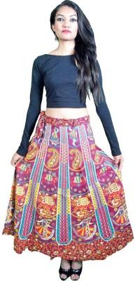Craftghar Printed Women's Wrap Around Multicolor Skirt