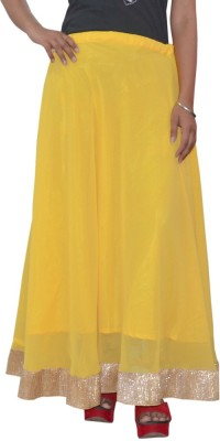 Shreeka Solid Women's Regular Yellow, Gold Skirt