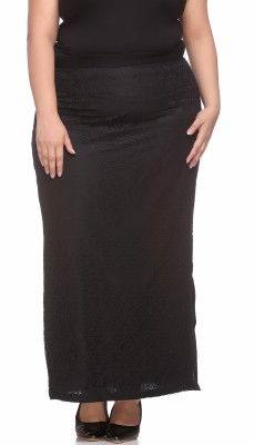 PlusS Woven Women's Regular Black Skirt