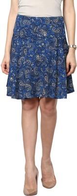 Abiti Bella Printed Women's A-line Multicolor Skirt