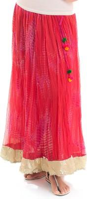 Naksh Jaipur Self Design, Solid Women,s Broomstick Pink Skirt