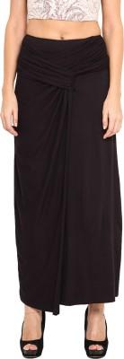 Pera Doce Solid Women's Regular Black Skirt