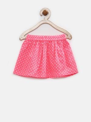 Yk Printed Baby Girl's A-line Pink Skirt