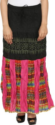 Friends by Style Printed Women's A-line Multicolor Skirt