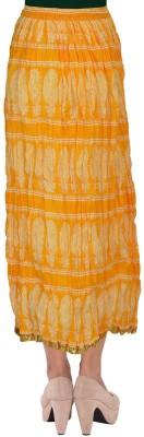 TheDarziClub Solid Women's Wrap Around Yellow Skirt