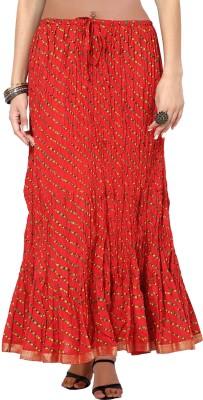 Indi Bargain Embellished Women's A-line Red Skirt