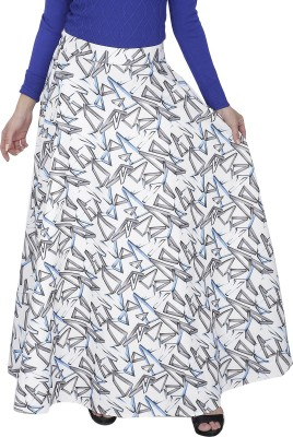 Svt Ada Collections Printed Women's A-line White Skirt