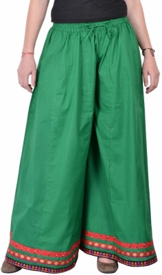 Jaipur Kala Kendra Solid Women's Regular Green Skirt