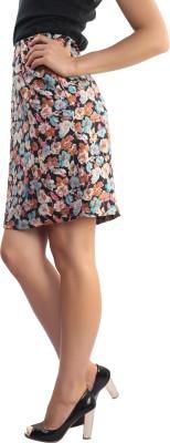 Belle Fille Floral Print Women's Pencil Multicolor Skirt