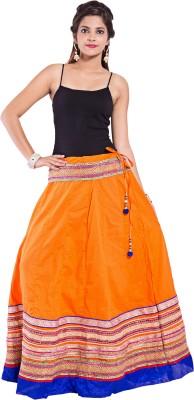 Decot Paradise Embroidered Women's Regular Orange Skirt