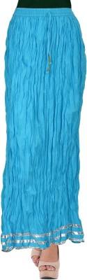 TheDarziClub Solid Women's Wrap Around Blue Skirt