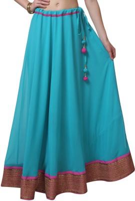 9Rasa Embellished Womens A-line Light Blue Skirt