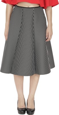 FASHMODE Solid Women's A-line Black Skirt