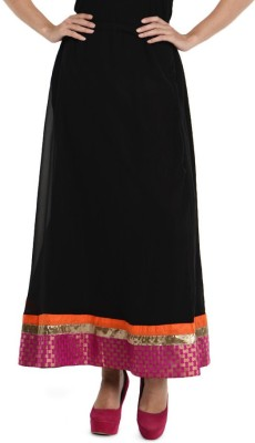 Hoor Solid Women's A-line Black Skirt