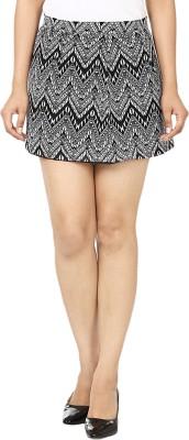 Vivaa Printed Women's A-line Black, White Skirt